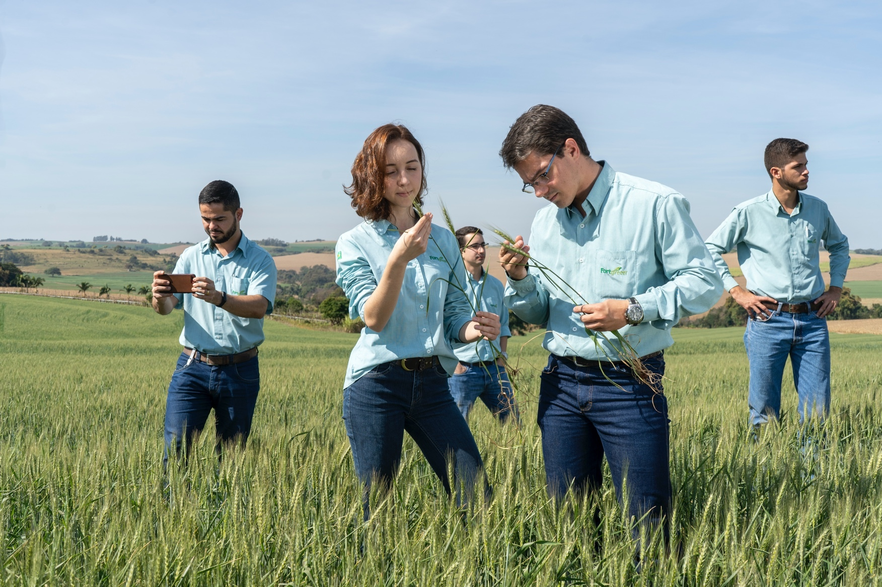 Scientists in field
